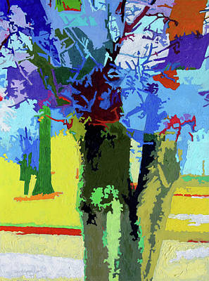 Painting - Painted Trees by John Lautermilch