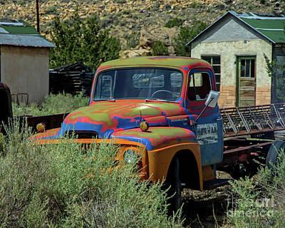 Photograph - Painted Truck by Steve Whalen