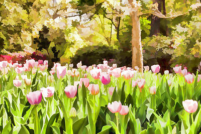 Photograph - Painted Tulips by Bonnie Davidson