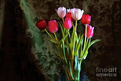 Photograph - Painted Tulips by Joan Bertucci