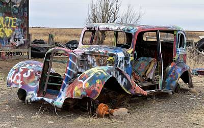 Photograph - Painted Up Old Car by rd Erickson