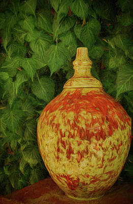 Photograph - Painted Vase by Dave Bosse
