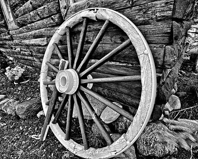 Log Cabin Photograph - Painted Wagon by Ed Boudreau