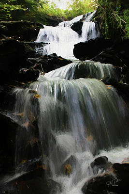 Photograph - Painted Waterfall  0021 by Ericamaxine Price