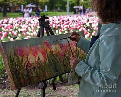 Photograph - Painter At Work by Tatiana Travelways