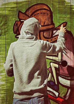 Hoodies Photograph - Painter by Odd Jeppesen