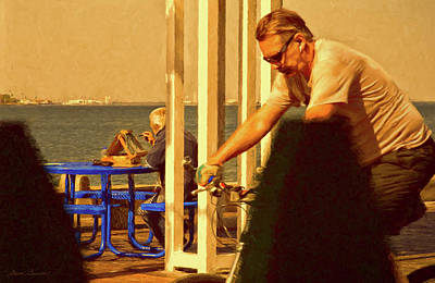 Photograph - Painter On The St. Pete Pier by Glenn Gemmell