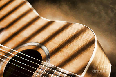 Painterly Acoustic 1 Art Print