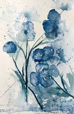 Painting - Painterly  Blues by Eunice Miller