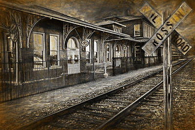Photograph - Painterly Effects Of Old Train Station by Randall Nyhof