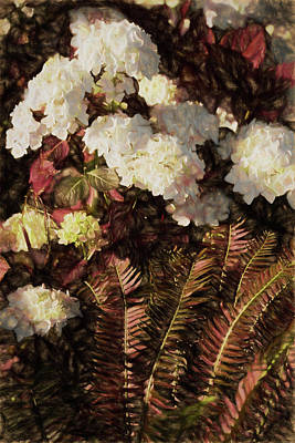 Painting - Painterly Hydrangeas by Bonnie Bruno