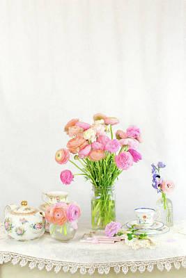 Photograph - Painterly Ranunculus Tea Time by Susan Gary