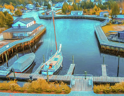 Photograph - Painterly Tuckerton Seaport by Gary Slawsky