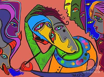 Digital Art - Painters Block by Hans Magden