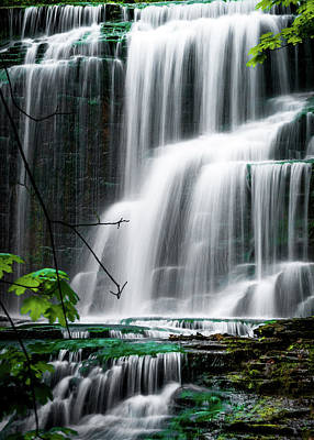 Photograph - Painters Effect Of Cascadilla Gorge Falls by Optical Playground By MP Ray