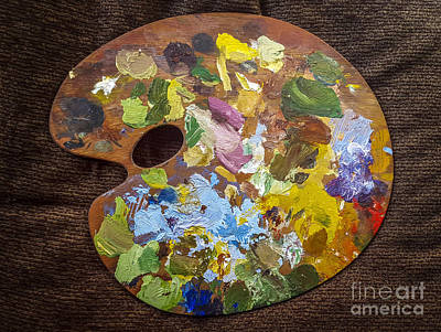 Oil Painter Photograph - Painter's Palette by Bernard Jaubert