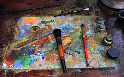 Of Painter Photograph - Painter's Palette by Jessica Jenney