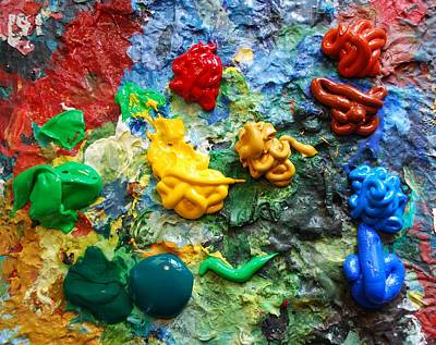 Painters Palette Original by Nancy Mueller
