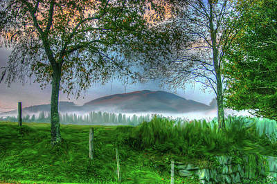 Photograph - Painters View Of Tenney Mountain by Wayne King