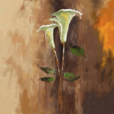Cherry Blossoms Painting - Painting 381 1 Calla Lily 1 by Mawra Tahreem