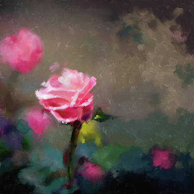 Cherry Blossoms Painting - Painting 381 1 Pink Rose by Mawra Tahreem