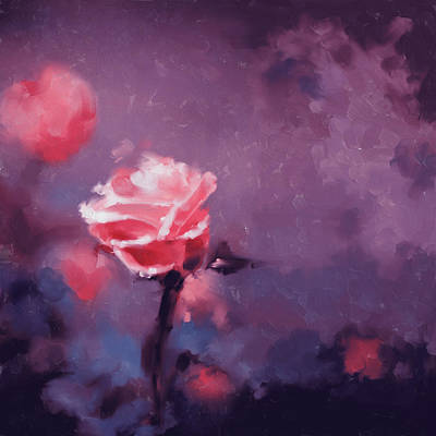 Cherry Blossoms Painting - Painting 381 2 Pink Rose by Mawra Tahreem