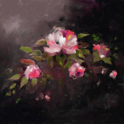 Cherry Blossoms Painting - Painting 382 1 Roses by Mawra Tahreem