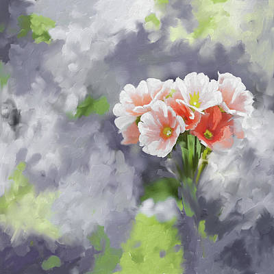 Cherry Blossoms Painting - Painting 391 2   Pink Bouquet by Mawra Tahreem