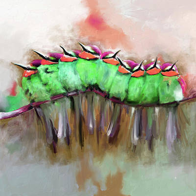 Painting - Painting 659 2 Bird 6 by Mawra Tahreem