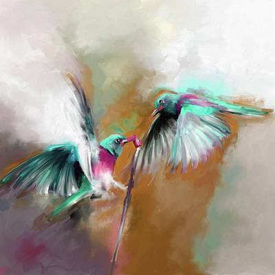Painting - Painting 660 2 Bird 7 by Mawra Tahreem