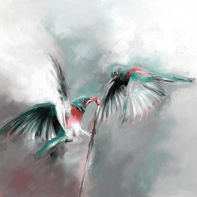 Painting - Painting 660 4 Bird 7 by Mawra Tahreem