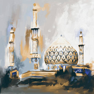 Dome Painting - Painting 688 2 Bahman Mosque by Mawra Tahreem