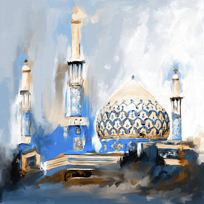 Dome Painting - Painting 688 3 Bahman Mosque by Mawra Tahreem