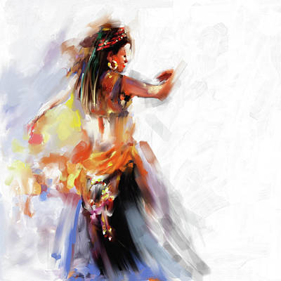 Painting - Painting 697 1 Dancer 2 by Mawra Tahreem