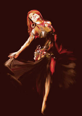 Painting - Painting 702 3 Dancer 7 by Team CATF