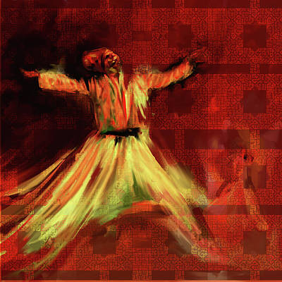Painting - Painting 715 2 Sufi Whirl I by Mawra Tahreem