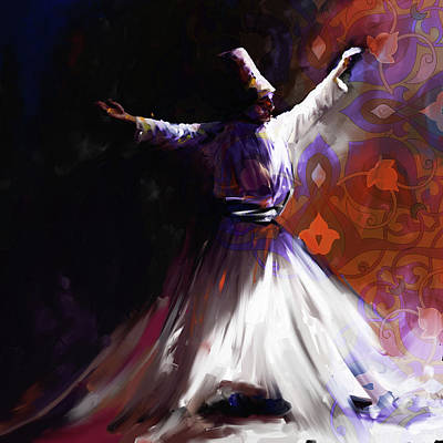 Painting - Painting 716 2 Sufi Whirl 2 by Mawra Tahreem
