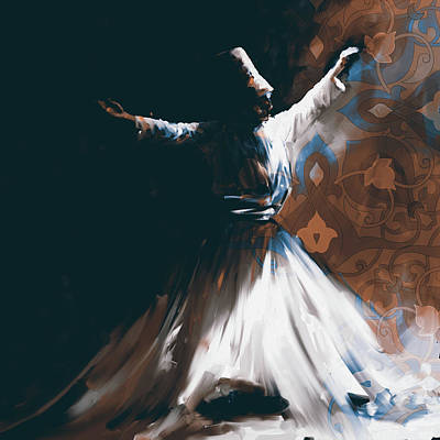 Sufi Dancer Painting - Painting 716 4 Sufi Whirl 2 by Mawra Tahreem