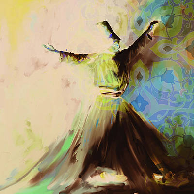 Painting - Painting 716 6 Sufi Whirl II by Mawra Tahreem