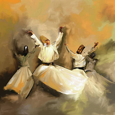 Painting - Painting 717 1 Sufi Whirl 3 by Mawra Tahreem