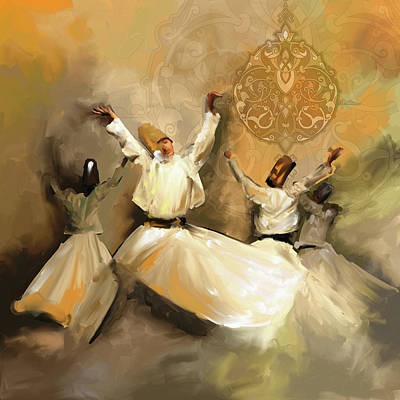 Painting - Painting 717 2 Sufi Whirl 3 by Mawra Tahreem