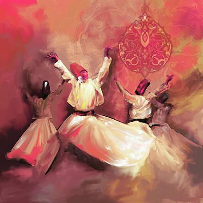 Painting - Painting 717 5 Sufi Whirl IIi by Mawra Tahreem