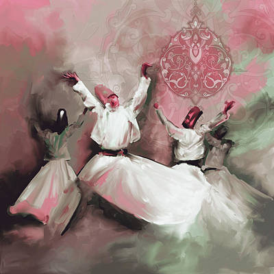 Painting - Painting 717 6 Sufi Whirl IIi by Mawra Tahreem