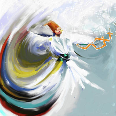 Painting - Painting 719 2 Sufi Whirl 5 by Mawra Tahreem