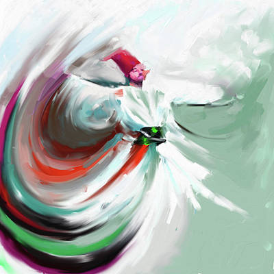 Painting - Painting 719 5 Sufi Whirl 5 by Mawra Tahreem