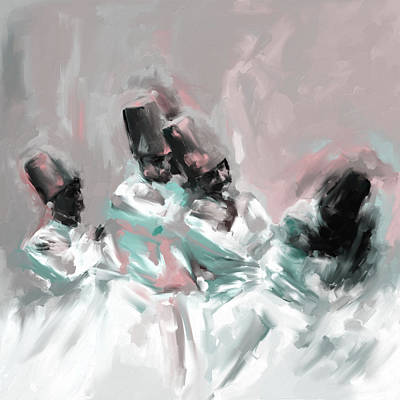 Painting - Painting 720 2 Sufi Whirl 6 by Mawra Tahreem