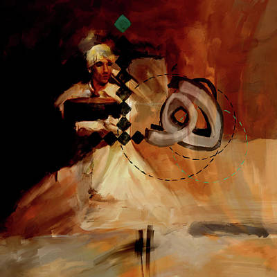 Painting - Painting 726 2 Sufi Whirl 13 by Mawra Tahreem