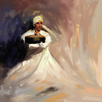 Sufi Dancer Painting - Painting 726 Sufi Whirl 13 by Mawra Tahreem