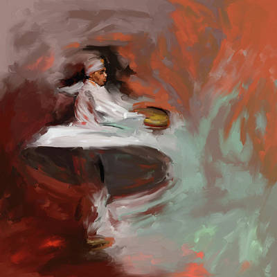 Painting - Painting 727 1 Sufi Whirl 14 by Mawra Tahreem