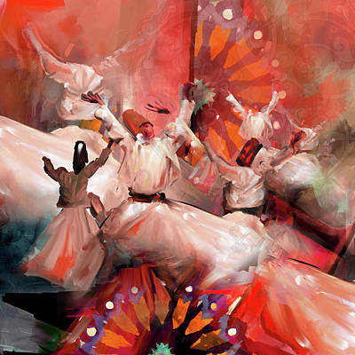 Painting - Painting 731 3 Sufi Whirl 18 by Mawra Tahreem